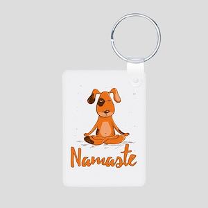 Namaste Yoga Dog Keychains
