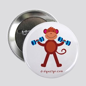 "Weight Lifting Gear 2.25"" Button"