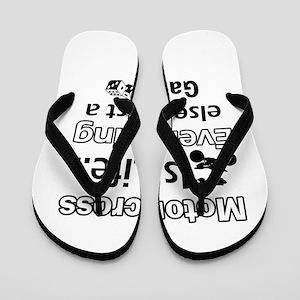 Motorcross Is Life Flip Flops