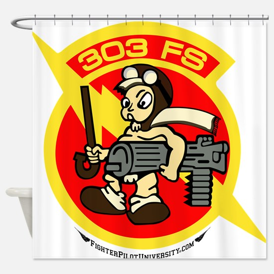 303rd FS Shower Curtain