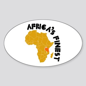 Tanzania Africa's finest Sticker (Oval)