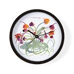 Atom Flowers Wall Clock