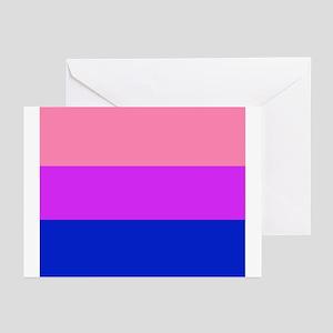 bi flag square Greeting Cards (Pk of 10)