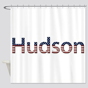 Hudson Stars and Stripes Shower Curtain