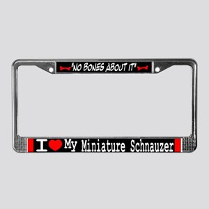 Miniature Schnauzer Gifts License Plate Frame