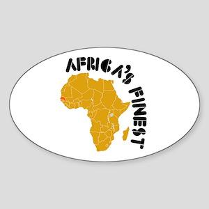 Senegal Africa's finest Sticker (Oval)