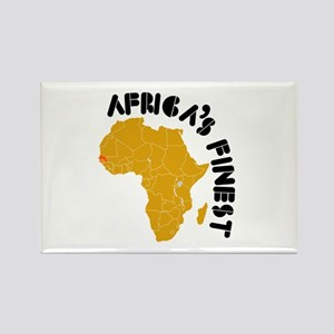 Senegal Africa's finest Rectangle Magnet