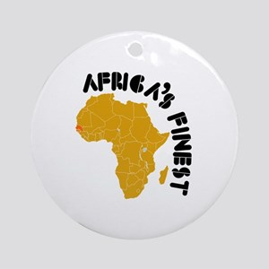 Senegal Africa's finest Ornament (Round)