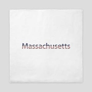 Massachusetts Stars and Stripes Queen Duvet