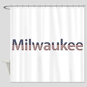 Milwaukee Stars and Stripes Shower Curtain