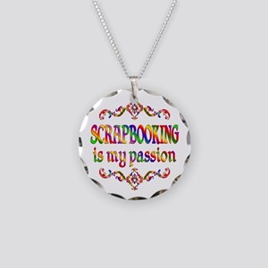 Scrapbooking Passion Necklace Circle Charm