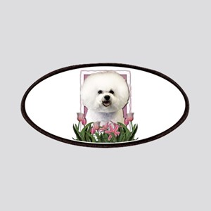 Mothers Day Pink Tulips Bichon Patches