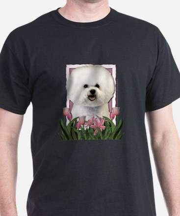 Mothers Day Pink Tulips Afghan T-Shirt