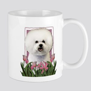 Mothers Day Pink Tulips Bichon Mug