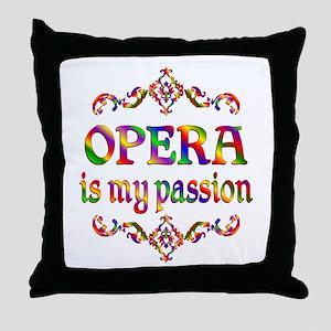 Opera Passion Throw Pillow