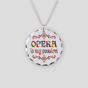 Opera Passion Necklace Circle Charm