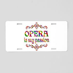 Opera Passion Aluminum License Plate