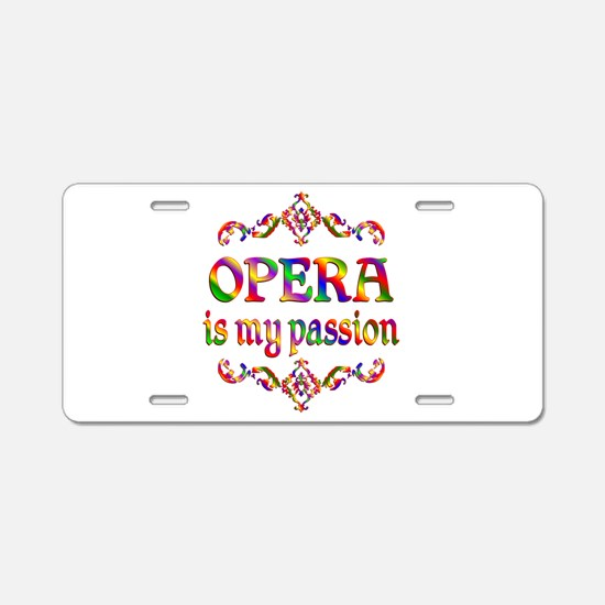 Opera Passion Aluminum License Plate