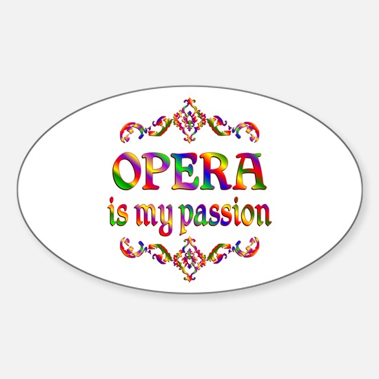 Opera Passion Sticker (Oval)