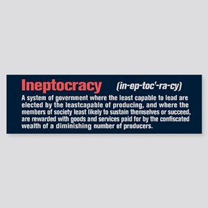 Ineptocracy Definition Sticker (Bumper)
