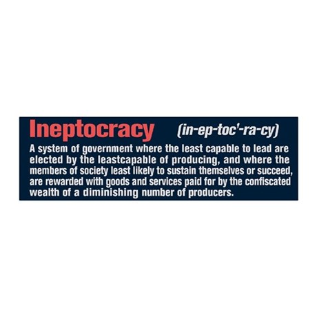 Ineptocracy Definition 36x11 Wall Decal