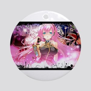music pink anime Ornament (Round)
