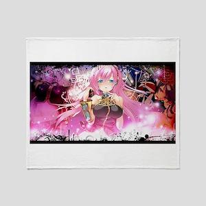 music pink anime Throw Blanket