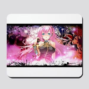 music pink anime Mousepad