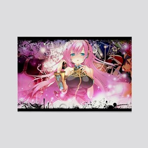 music pink anime Rectangle Magnet