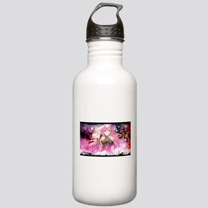 music pink anime Stainless Water Bottle 1.0L