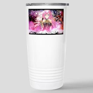music pink anime Stainless Steel Travel Mug