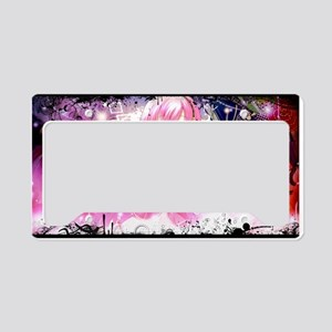 music pink anime License Plate Holder