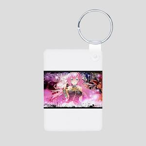music pink anime Aluminum Photo Keychain