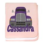 Trucker Cassandra baby blanket