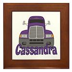 Trucker Cassandra Framed Tile