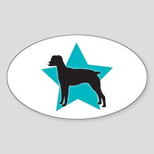 American Brittany Spaniel Oval Sticker