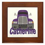 Trucker Catherine Framed Tile