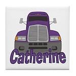 Trucker Catherine Tile Coaster