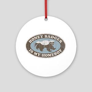 Vintage Honey Badger HB Ornament (Round)