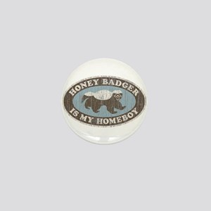 Vintage Honey Badger HB Mini Button
