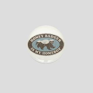Vintage Honey Badger HB Mini Button