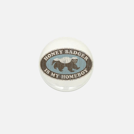 Vintage Honey Badger HB Mini Button (100 pack)