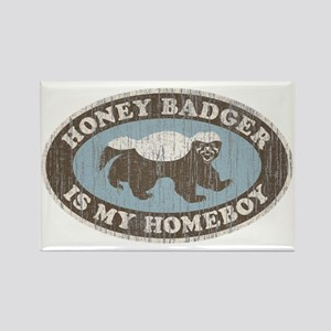 Vintage Honey Badger HB Rectangle Magnet