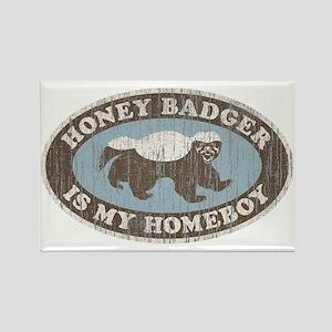 Vintage Honey Badger HB Rectangle Magnet