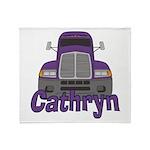 Trucker Cathryn Throw Blanket