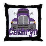 Trucker Cathryn Throw Pillow