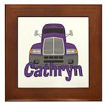 Trucker Cathryn Framed Tile
