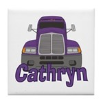 Trucker Cathryn Tile Coaster