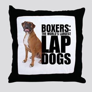 Lap Dog Throw Pillow
