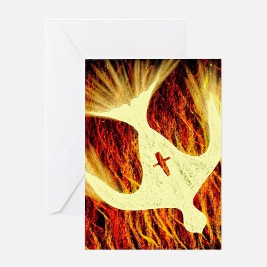 Spirit on Fire Greeting Card